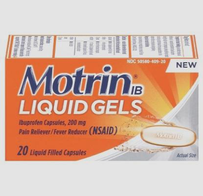 Motrin 200 mg 120 tablets